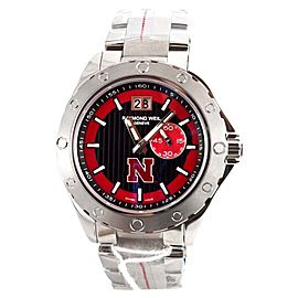 Raymond Weil 8300-ST-20041 Sport Letter N logo Men's Black and Red Dial Watch