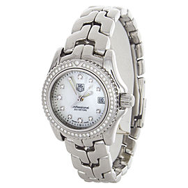 Tag Heuer WT141J Professional MOP Diamond Dial Stainlees Steel Womens Watch