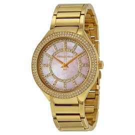 Michael Kors MK3396 Kerry Pink MOP Dial Gold Tone Stainless Women's Watch