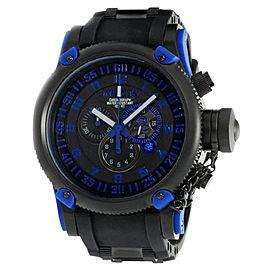 Invicta 0518 Black Dial Chrono Russian Diver Mens Watch