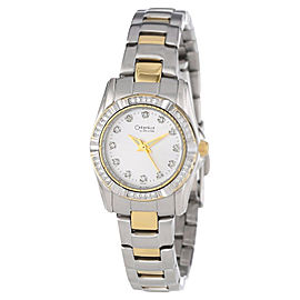Bulova Caravelle 45L83 Two-Tone Bracelet Silver Dial Womens Watch