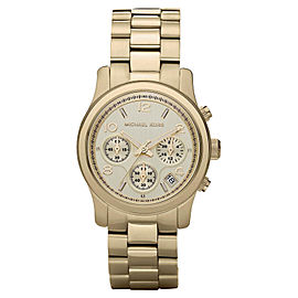Michael Kors MK5055 Runway Chronograph Women's Gold Tone Stainless Steel Watch