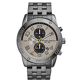 Michael Kors MK8349 Chronograph Silver Dial Gunmetal Stainless Steel Mens Watch