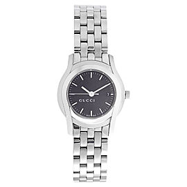 Gucci YA055518 Black Dial Stainless Steel Bracelet Quartz Womens Watch
