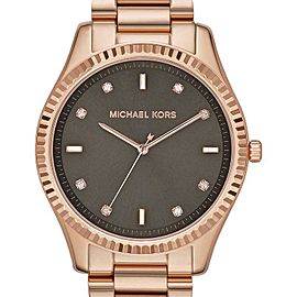 Michael Kors Felicity MK3227 Rose Gold-Tone Stainless Steel Brown Dial Womens Watch