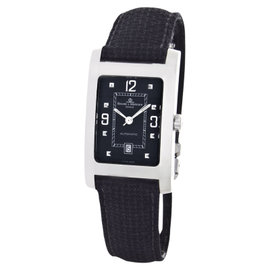 Baume & Mercier Automatic Movement Rectangular Black Dial Case Band Watch