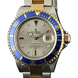 Rolex Submariner 16613 Mens 40mm Watch