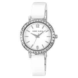 Anne Klein AK/1443WTSV Swarovski Crystal Accented White Ceramic Women's Watch