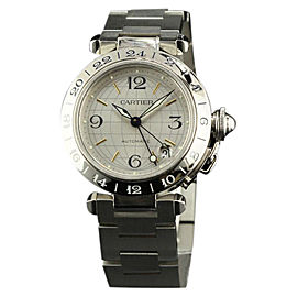 Cartier Pasha GMT W31029M7 Steel Silver Automatic 35mm Watch