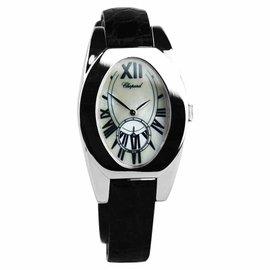 Chopard Ovale Classique 127482 1001 18K White Gold Mop Sapphire Womens Watch