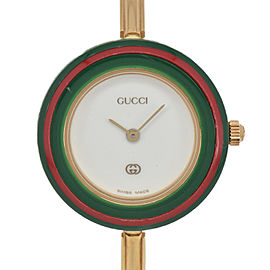 GUCCI Change bezel 1100-L White Dial Quartz Ladies Watch