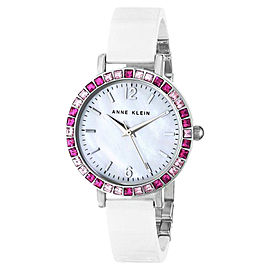 Anne Klein AK/1443PKWT Pink Swarovski Crystal Accented White Women's Watch