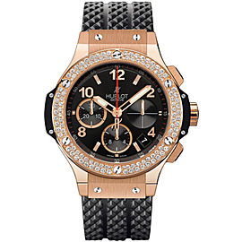 Hublot Big Bang 341.px.130.rx.114 18K Rose Gold & Diamonds Chronograph 41mm Mens Watch