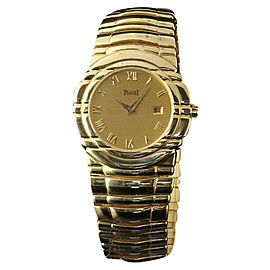 Piaget 17141 M411D 18K Yellow Gold Tanagra Champagne Roman Unisex Watch