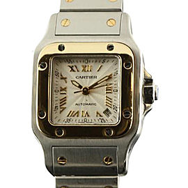 Cartier Santos de Cartier Galbee Stainless Steel & Yellow Gold 25mm Watch