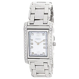 Fendi 001-7600M-323 Pearl Dial Stainless Steel Bracelet Diamond Womens Watch