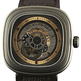 Sevenfriday Industrial Revolution P2-01 Stainless Steel / Leather Automatic 47mm Mens Watch
