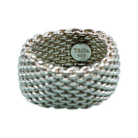 Tiffany & Co. 925 Sterling Silver Paloma Picasso Somerset Mesh Ring Size 6.5