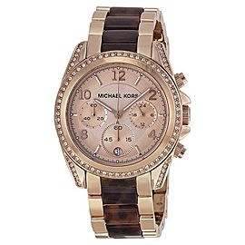 Michael Kors MK5859 Blair Rose Gold Dial Rose Gold Chronograph 39mm Womens Watch