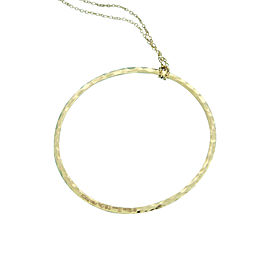 Tiffany & Co. 18K Rose Gold Paloma Picasso Hammered Circle Necklace