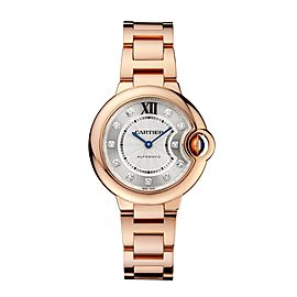 Cartier Ballon Bleu WE902039 Silver Dial 18K Rose Gold 33mm Watch