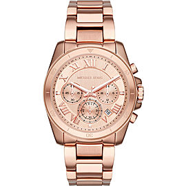 Michael Kors Brecken MK6367 Rose Gold-Tone Stainless Steel Chronograph 40mm Watch
