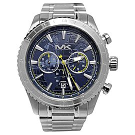 Michael Kors MK8351 Richardson Chronograph Blue Dial Stainless Steel 45mm Mens Watch