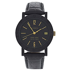 Bulgari Hong Kong Carbon & 18K Yellow Gold Automatic 33mm Unisex Watch