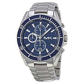 Michael Kors JetMaster MK8354 Stainless Steel Blue Dial Chronograph 45mm Watch