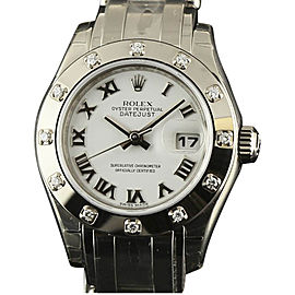 Rolex Datejust 80319 Stainless Steel & White Gold 29mm Womens Watch