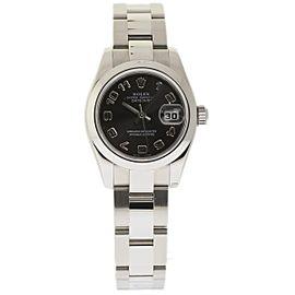 Rolex Datejust 179160 Stainless Steel & Black Arabic Dial 26mm Womens Watch