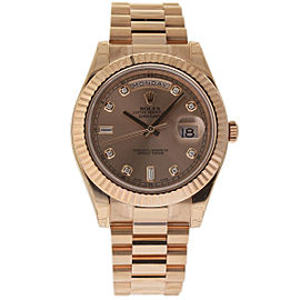 Rolex Day-Date II 218235 18K Rose Gold 41mm Mens Watch