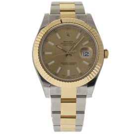 Rolex Datejust II 116333 Stainless Steel & 18K Yellow Gold Champagne Dial 41mm Mens Watch 2017