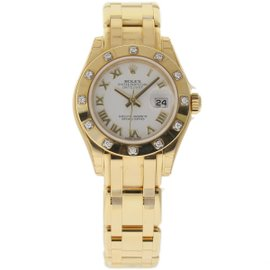 Rolex Datejust 80318 18K Yellow Gold & White Dial 29mm Womens Watch