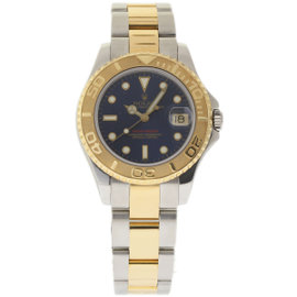 Rolex Yacht-Master 68623 Stainless Steel & 18K Yellow Gold Blue Dial Automatic 35mm Unisex Watch