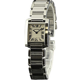 Cartier Tank Francaise W51008Q3 Stainless Steel White Dial Quartz 20mm Womens Watch
