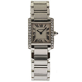 Cartier Tank Francaise W51008Q3 Stainless Steel wDiamond White Dial Quartz 20mm Womens Watch
