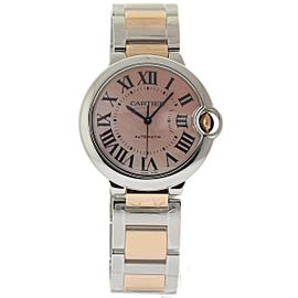 Cartier Ballon Bleu W6920033 Stainless Steel & 18K Pink Gold Rose Mother of Pearl Dial Automatic 36mm Womens Watch