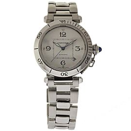 Cartier Pasha W31059H3 Stainless Steel Automatic Silver Dial 38mm Womens Watch
