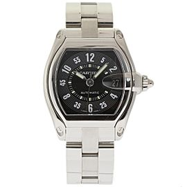 Cartier Roadster W62025V3 Stainless Steel Black Dial Automatic 38mm Mens Watch