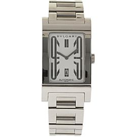 Bulgari Rettangolo RT45S Stainless Steel 45mm Mens Watch