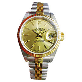 Rolex Oyster Perpetual Datejust Stainless Steel & 18K Yellow Gold 25mm Womens 1998