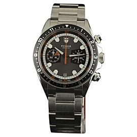 Tudor Heritage 70330N Stainless Steel & Grey/Black Dial 42mm Mens Watch