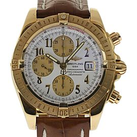 Breitling Chronomat Evolution K13356 Yellow Gold Automatic 43mm Mens Watch