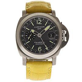 Panerai Luminor GMT PAM00089 Titanium / Leather 44mm Mens Watch