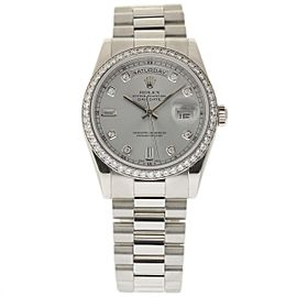 Rolex Day-Date 118346 Platinum 36mm Mens Watch