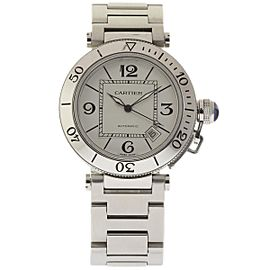 Cartier Pasha Seatimer W31080M7 Stainless Steel White Dial Automatic 40mm Unisex Watch