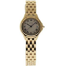 Cartier Cougar 849 18K Yellow Gold 32mm Womens Watch