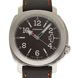 Anonimo Sailor AM200001006A01 Stainless Steel & Leather Automatic 43mm Mens Watch