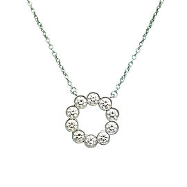 Tiffany & Co. Jazz Platinum 0.90tcw Diamond Circle Pendant Necklace